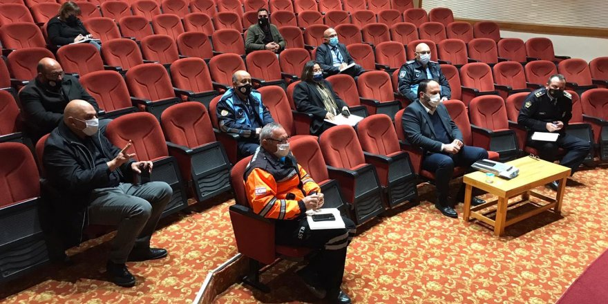 İskele İlçe Emniyet Kurulu,Covid-19 salgını ile mücadele kapsamında toplandı
