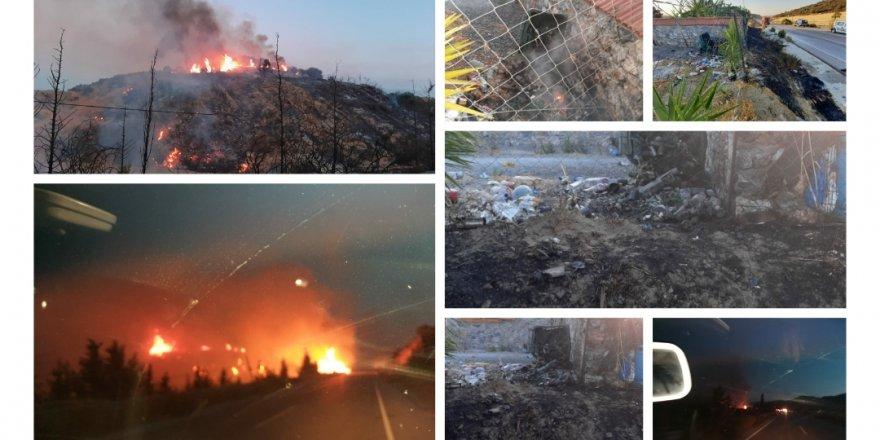 Geçitkale – Mallıdağ arasındaki yangın söndürüldü
