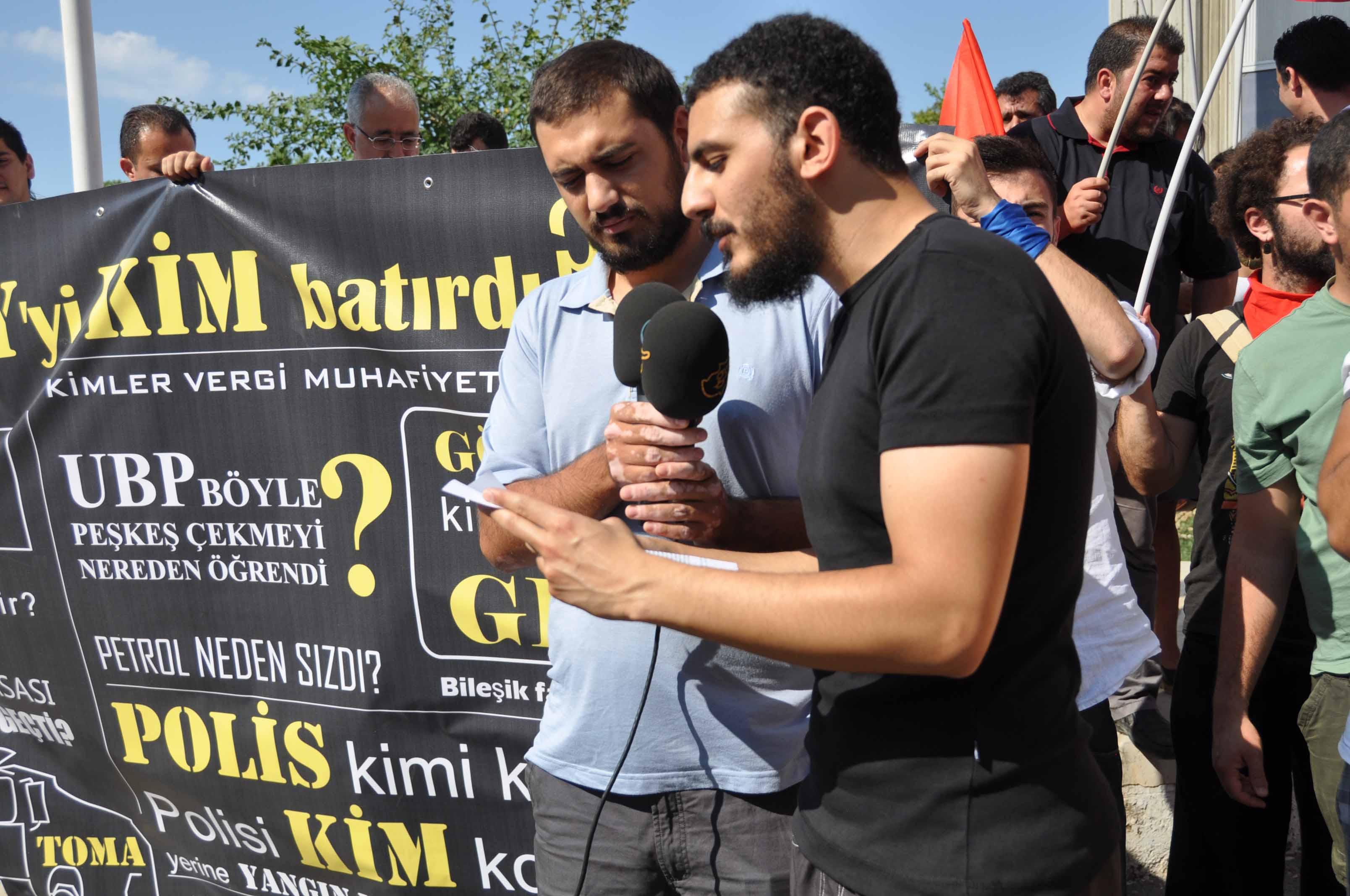 PROTESTO EYLEMİ DÜZENLEDİ