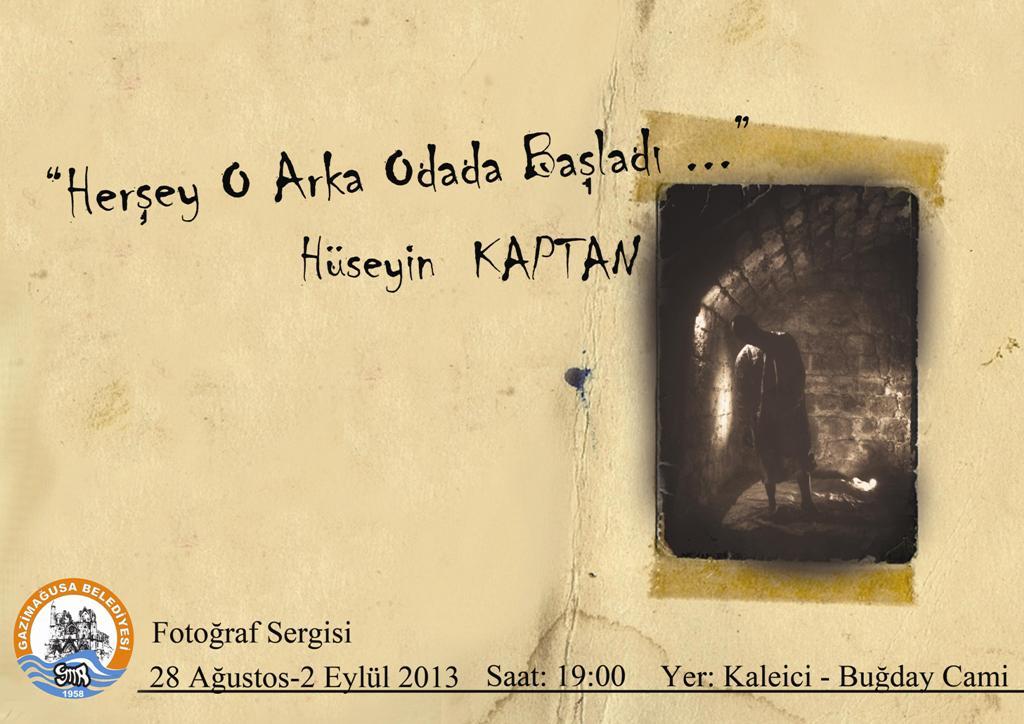"""""""HER ŞEY O ARKA ODADA BAŞLADI"""" İSİMLİ FOTOĞRAF SERGİSİ"""