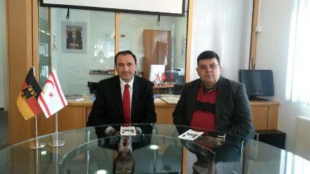 BEROVA, ALMANYA'DA KKTC FAHRİ KONSOLOSLUĞU'NU ZİYARET ETTİ