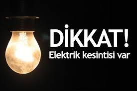PAZARTESİ ELEKTRİK KESİNTİSİ
