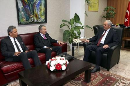 YORGANCIOĞLU, ULUSOY'U KABUL ETTİ