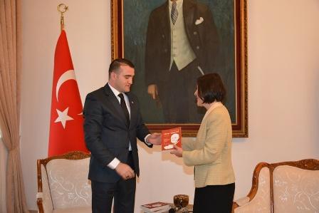 SİBER, TURSAM BAŞKANI ŞAHİDOV'U KABUL ETTİ.