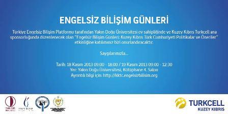 """""""ENGELSİZ BİLİŞİM GÜNLERİ"""" YARIN BAŞLIYOR"""