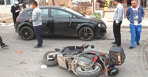 YİNE MOTOSİKLET KAZASI