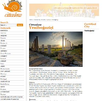 YENİBOĞAZİÇİ BELEDİYESİ, CITTASLOW'UN RESMİ WEB SİTESİNDE
