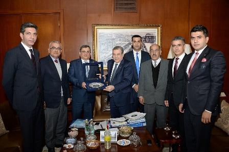 DAÜ HEYETİNDEN TC İÇİŞLERİ BAKANI'NA ZİYARET