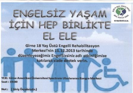 """""""ENGELSİZSİNİZ"""" ETKİNLİĞİ DÜZENLENİYOR"""
