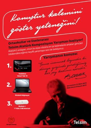 TELSİM'İN ATATÜRK İLE İLGİLİ 4'ÜNCÜ KOMPOZİSYON YARIŞMASI