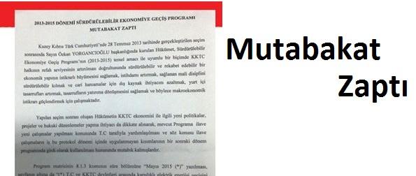 'EKONOMİK PROGRAM' İÇİN 'MUTABAKAT ZAPTI'
