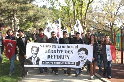 SURİYE'NİN DOSTLARI'NA PROTESTO