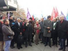 KTÖS, ANKARA ADLİYESİ'NDE YARGILANAN TC'Lİ SENDİKA ÜYELERİNE DESTEK