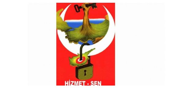 HİZMET-SEN'DEN ANLAMLI PROTESTO