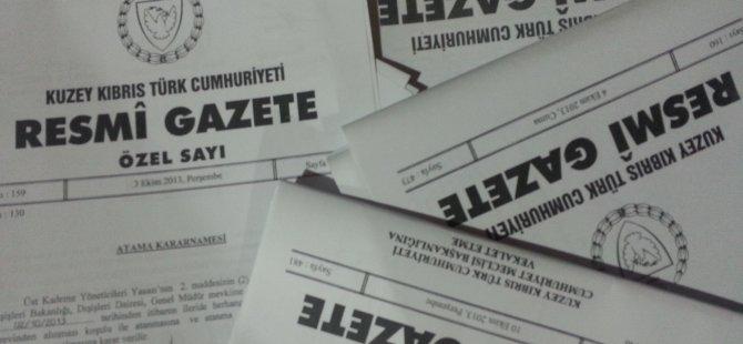 'RESMİ GAZETE'DE' YAYIMLANDI!