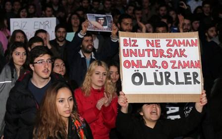 BERKİN ELVAN'IN ÖLÜMÜ LEFKOŞA'DA DA PROTESTO EDİLDİ