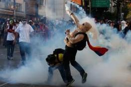 VENEZUELA'DA HÜKÜMET KARŞITI GÖSTERİLER