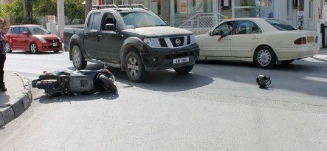 DEREBOYU'NDA MOTOR SÜRÜCÜSÜ SAVRULDU!