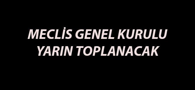 MECLİS GENEL KURULU YARIN TOPLANACAK