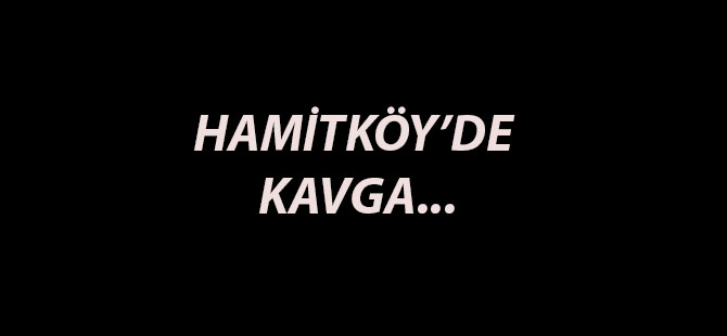 HAMİTKÖY'DE KAVGA...