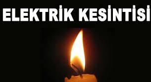 PAZARTESİ ELEKTRİK BU YERLERE VERİLMEYECEK!