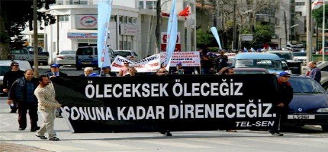 TÜRK-SEN'DEN TEL-SEN GREVİNE DESTEK
