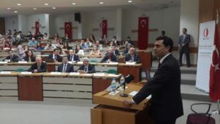 """DIŞİŞLERİ BAKANI NAMİ ODTÜ'DE """"KIBRIS MÜZAKERELERİ"""" TEMALI KONFERANSTA KONUŞMA YAPTI"""