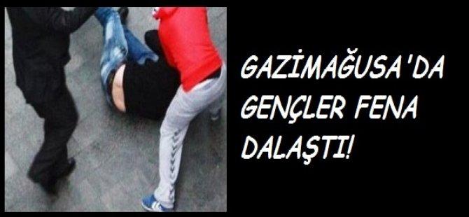 GAZİMAĞUSA'DA GENÇLER FENA DALAŞTI!