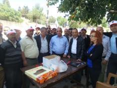 CTP-BG GREV YERİNİ ZİYARET ETTİ, ÇALIŞANLARA DESTEK VERDİ