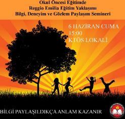 """KTÖS'TEN """"OKUL ÖNCESİ EĞİTİMDE REGGİO EMİLİA EĞİTİM YAKLAŞIMI"""" SEMİNERİ"""