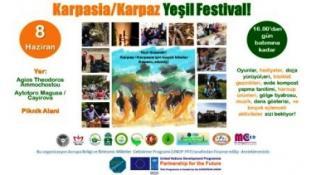 """PAZAR GÜNÜ KARPAZ'DA """"YEŞİL FESTİVAL"""" DÜZENLENİYOR"""