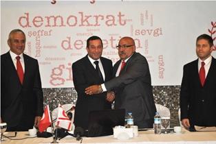 DP-UG, UBP'NİN LTB BAŞKAN ADAYI DANA'YA DESTEK BELİRTTİ