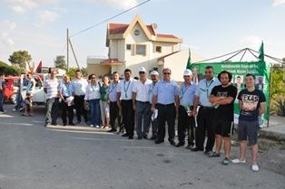 CTP-BG DEĞİRMENLİK BELEDİYE BAŞKAN ADAYI IŞISAL BİLDİRİ DAĞITTI