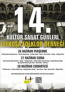 FOLK-DER 14. KÜLTÜR SANAT GÜNLERİ PERŞEMBE GÜNÜ BAŞLIYOR