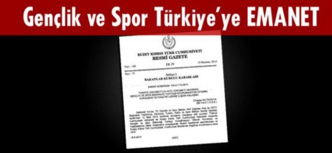 GENÇLİK VE SPOR TÜRKİYE'YE EMANET