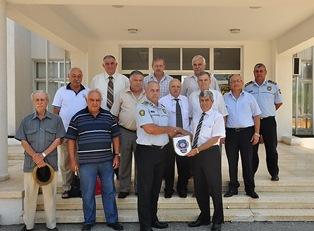 EMEKLİ POLİSLER DERNEĞİ LEFKOŞA İLE GİRNE POLİS MÜDÜRLERİ'Nİ ZİYARET ETTİ