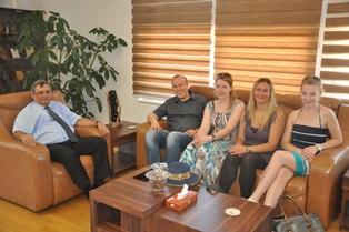 DAÜ REKTÖRÜ ÖZTOPRAK'I ZİYARET ETTİ