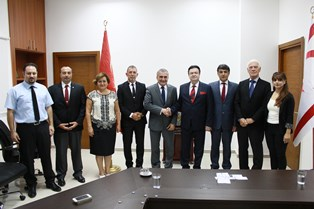 ARABACIOĞLU MEINEL VE AKPINAR'I KABUL ETTİ
