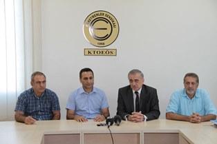 ARABACIOĞLU, KTOEÖS'Ü ZİYARET ETTİ
