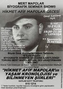 """""""BİYOGRAFİK SEMİNER GECESİ"""""""