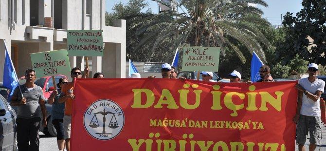 GAZİMAĞUSA'DAN LEFKOŞA'YA YÜRÜYÜŞ EYLEMİ!
