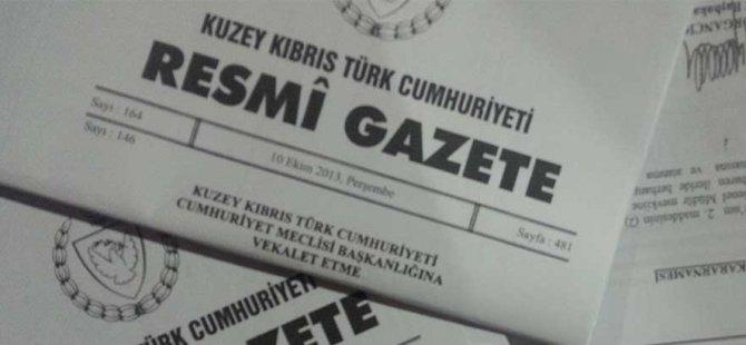 RESMİ GAZETE'DEN HABERLER!