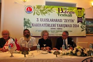 ZEYTİN FESTİVALİ'NDE KARİKATÜR YARIŞMASI YENİDEN YAPILIYOR