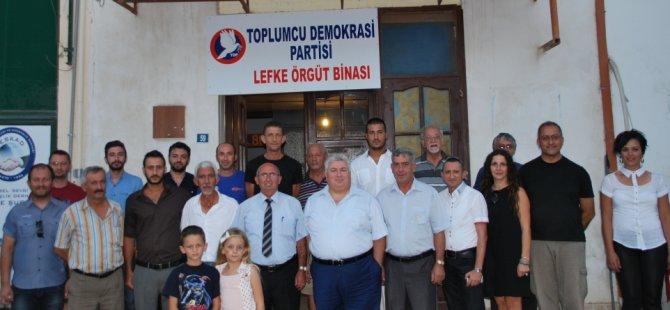 TDP, LEFKE'DE ÖRGÜT BİNASI AÇTI