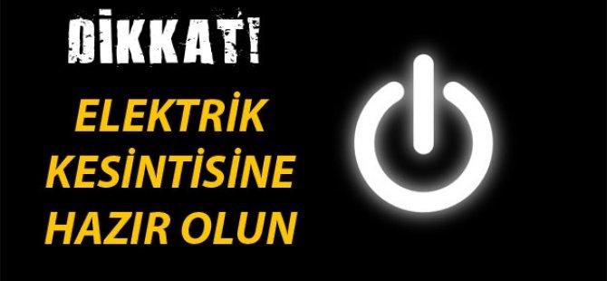 DİKKAT YARIN ELEKTRİK YOK!