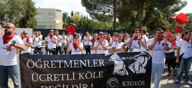 2011 SONRASI İŞE BAŞLAYAN ÖĞRETMENLERDEN MAAŞ PROTESTOSU