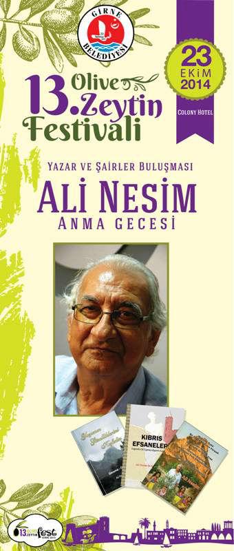 """""""ALİ NESİM'İ ANMA GECESİ"""""""