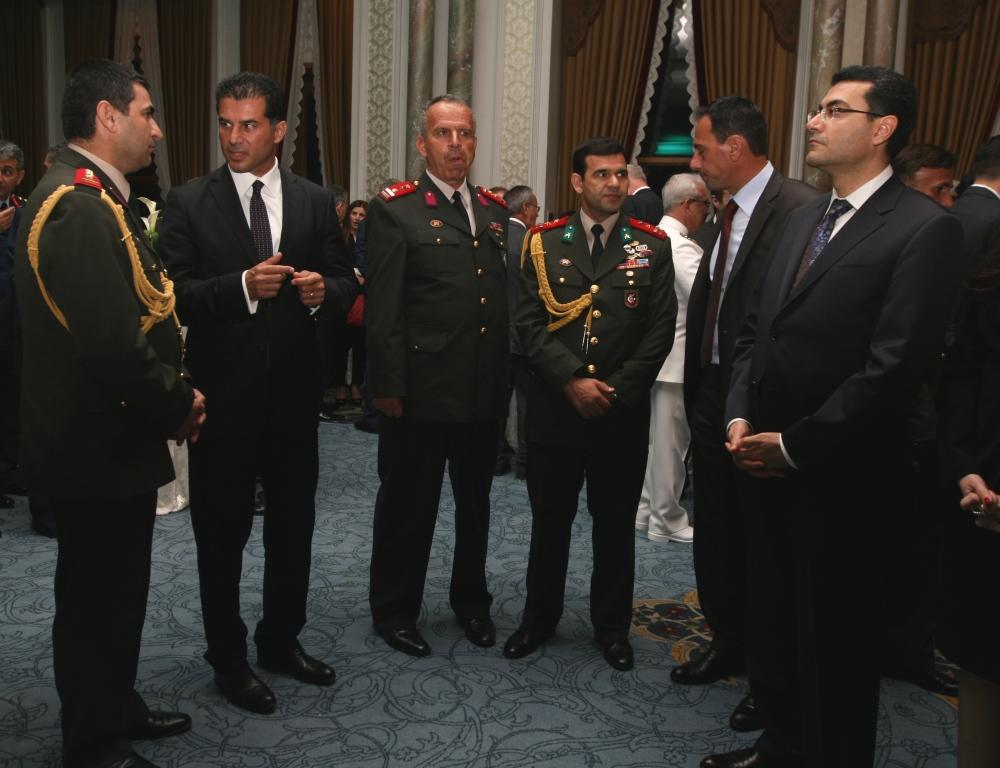 ÖZGÜRGÜN TC MİLLİ SAVUNMA BAKANI YILMAZ'IN İSTANBUL'DA DÜZENLEDİĞİ RESEPSİYONA KATILDI