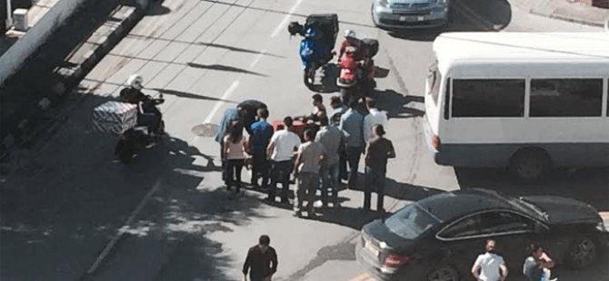 DEREBOYU'NDA KORKUTAN MOTOSİKLET KAZASI!