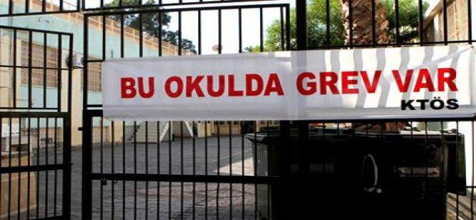 KTÖS'ÜN BEŞ OKULDAKİ GREVİ DEVAM EDİYOR